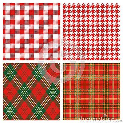 Tela escocesa roja