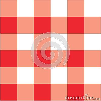 Tela escocesa roja del paño de vector de comida campestre