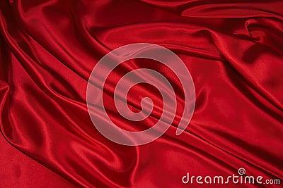 Tela roja 1 del satén/de seda