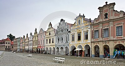 Telc - The Main Square. Czech Republic