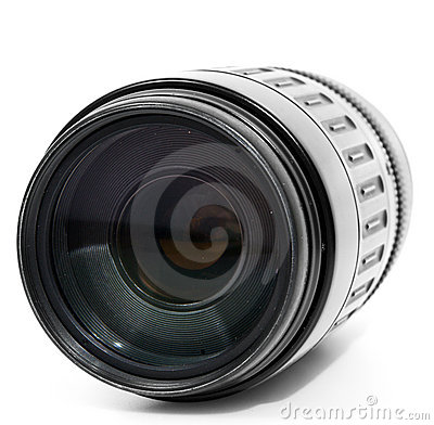 Tele zoom lens isolated