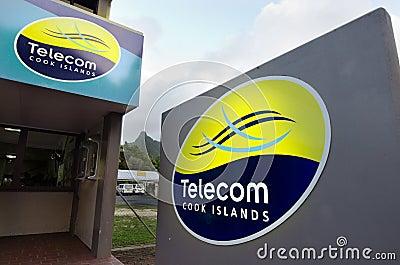 Telecom Cook Islands - Avarua Editorial Stock Image