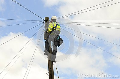 Telecom Engineer Editorial Image