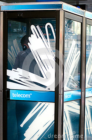 Telecom New Zealand Editorial Stock Photo