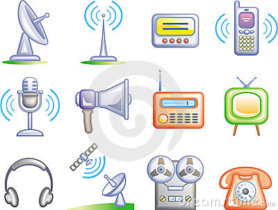 Telecom - Vector Icons Set