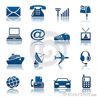 Telecommunicatie & vervoerspictogrammen