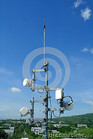 Telecommunication Tower Royalty Free Stock Images - Image: 15185019