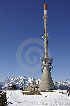 Telecommunication Tower in the Mountains