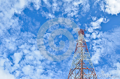 The telecommunications tower