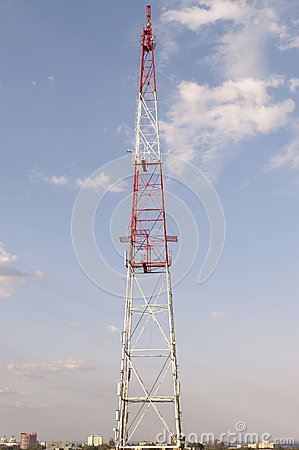 Telecommunications tower.