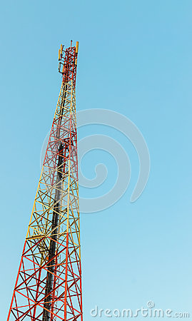 A telecommunications tower
