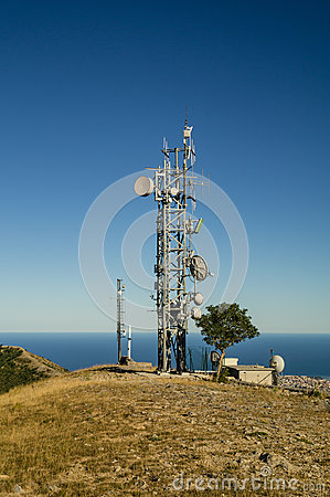 Telecommunications tower landscape