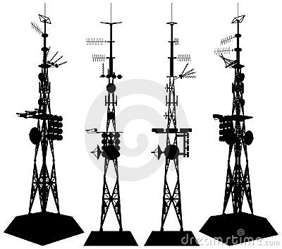 Telecommunications Tower Vector 01