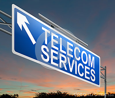 Telecoms service concept.