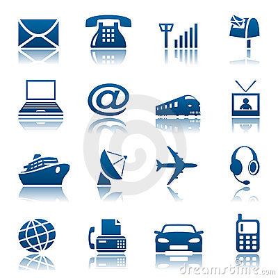 Telecoms & transportation icons