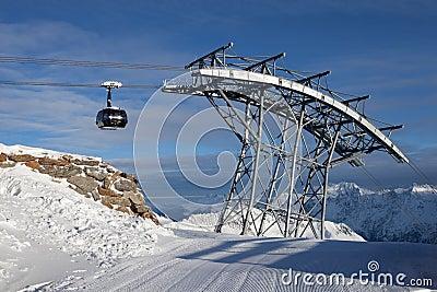 Teleférico nos alpes