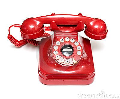 Telefon czerwień