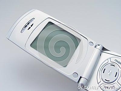 Telefone de pilha com tela em branco