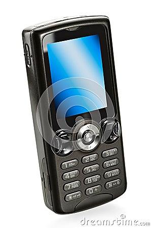 Telefone de pilha móvel preto