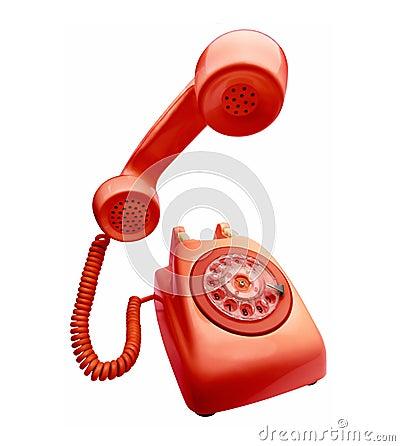 Telefone vermelho do vintage