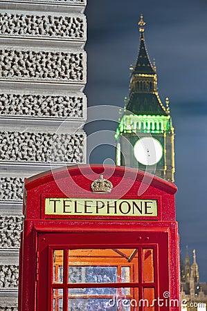 Telefone vermelho em Londres, Inglaterra