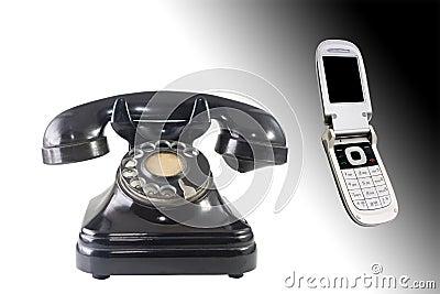 Telefones velhos e novos