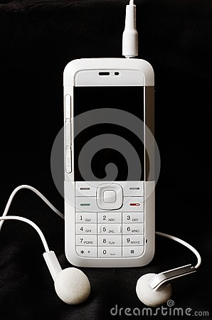 Telefono cellulare bianco