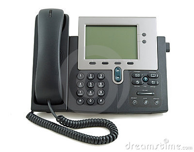 Telefono moderno di digitahi fotografie stock libere da for Telefono oficina