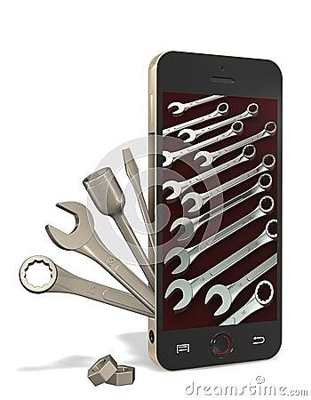 Telefonu i ławki narzędzia