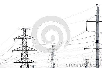 Telegraph pole wire