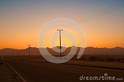 Telegraph Poles in the Desert