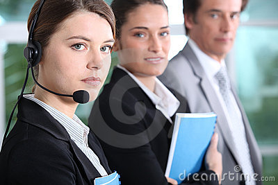 Teleoperator and business people