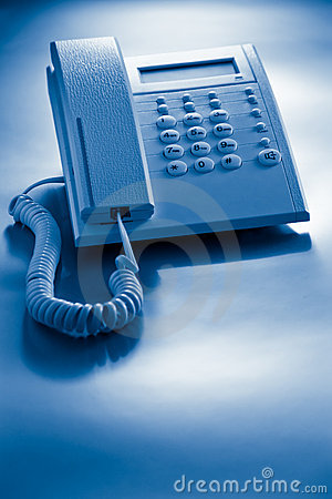 Telephone blue toned