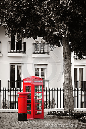 Free Telephone Booth And Mail Box Stock Images - 39679564