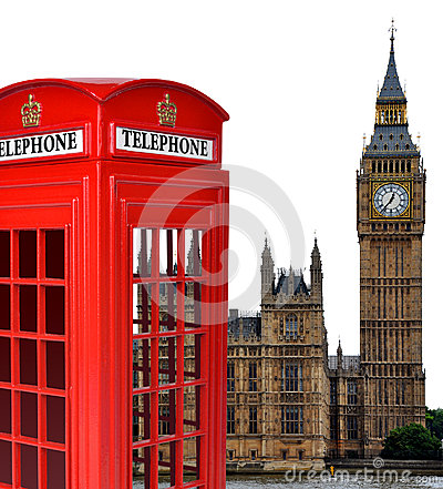 Telephone box and the Big Ben