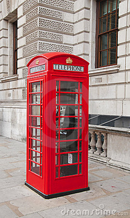 Free Telephone Box In London Royalty Free Stock Image - 21624306