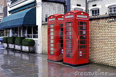Telephone boxes, London Editorial Photography