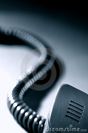 Telephone Handset Microphone and Coiled Cord