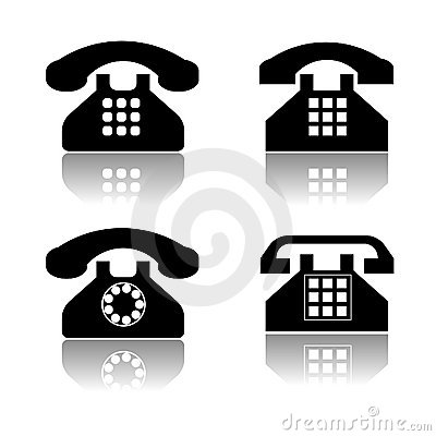 Telephone icon collection
