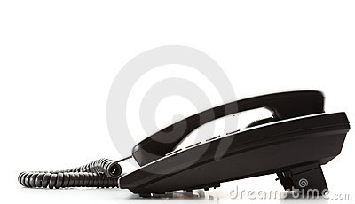 Telephone isolated on white