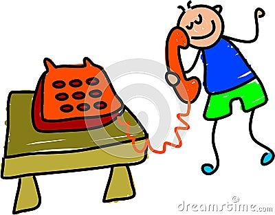 Telephone kid