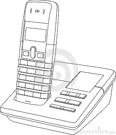 Telephone Line Drawing Royalty Free Stock Images - Image ...