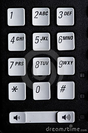 Telephone number pad