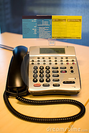 Telephone on an office desk