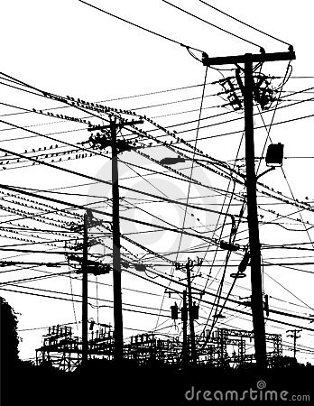 Free Telephone Poles And Wires Royalty Free Stock Photo - 7695335