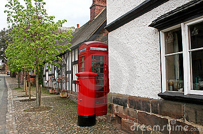 Telephone and post box