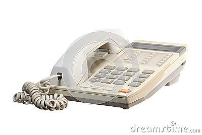 Telephone set on white