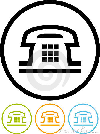 Telephone - Vector icon isolated on white