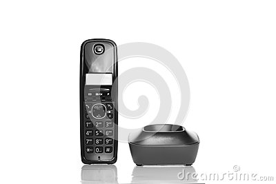 Telephone on White background