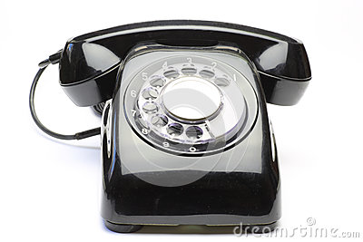 Telephone in a white background